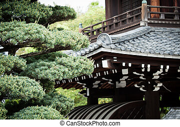 Traditional temple in Kyoto, Japan