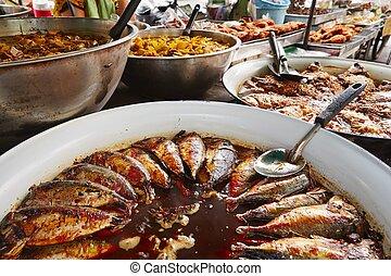 Thai cuisine on the street