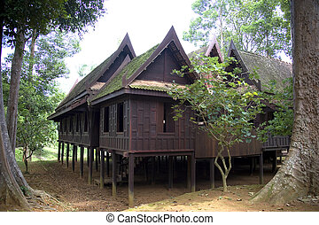 Traditional Thai House - Traditional Thai house in the...