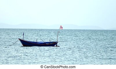 traditional Thai longtail boat in the sea. - traditional...