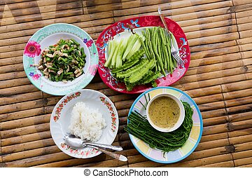 Traditional Thai lunch