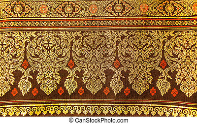 Traditional Thai style art of pattern on fabric