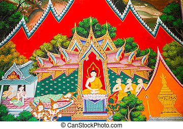 traditional thai style painting