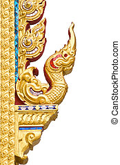 Traditional Thai style pattern on w
