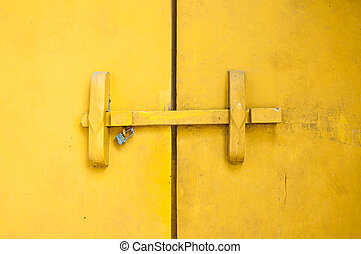 Traditional Thai style wooden door latch