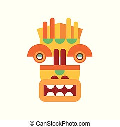 Traditional tribal facial mask vector Illustration on a white background