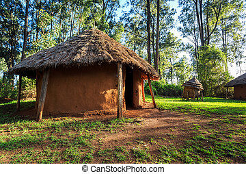 Traditional, tribal village of Kenyan people - Traditional, ...
