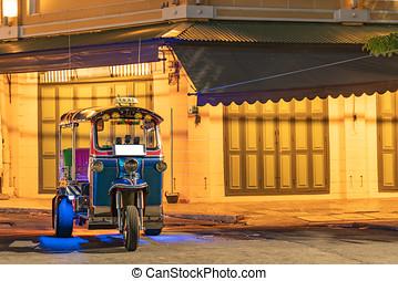 traditional tuk-tuk from Bangkok, Thailand,