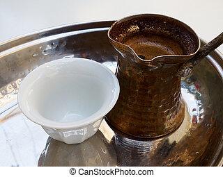 Traditional Turkish Arab Greek coffee