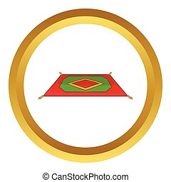 Traditional turkish carpet vector icon