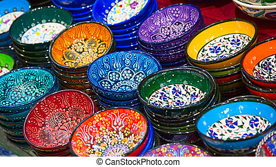 Turkish ceramics - Traditional Turkish ceramics on the Grand...