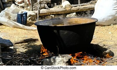 Traditional wheat cooking videos