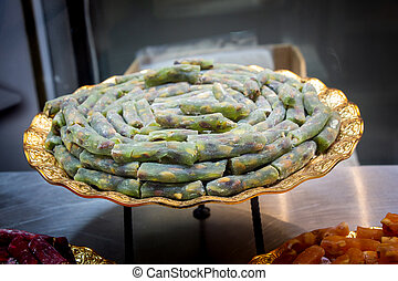 Traditional Turkish delight sweets as lokum candy - Load of ...