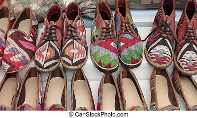 Traditional Turkish Shoes in Istanbul City