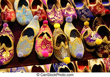 Traditional Turkish Slippers in Istanbul City, Turkey