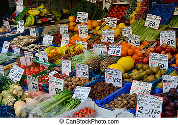 Traditional vegetable stall