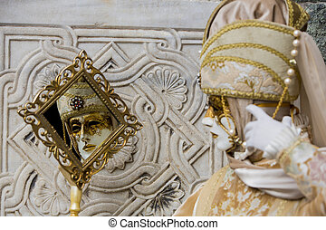 Traditional venetian carnival mask
