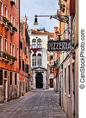 Traditional Venice - Quaint street in historic Venice, Italy...
