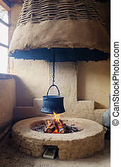 traditional village hearth