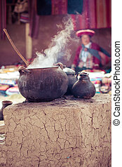 Traditional village in Peru, South America.