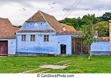 Traditional village in Romania