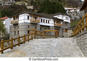 Traditional village of Metsovo at Greece