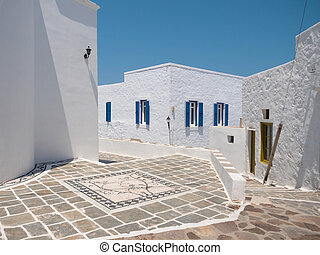 Traditional village Plaka in Milos Island - Traditional...