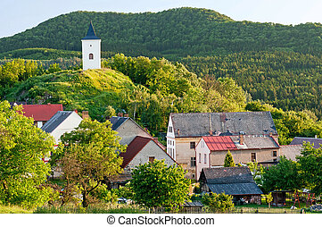 View of traditional village, picture taken in the Czech Republic.