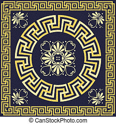 Traditional vintage Greek ornament - Traditional vintage...