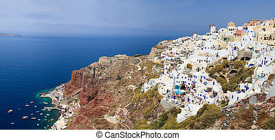 Oia village in Santorini
