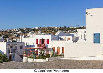 white houses in Mykonos