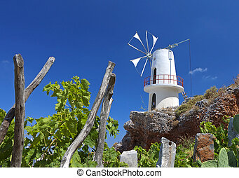 Traditional windmill in Greece