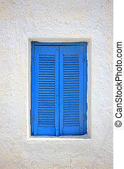 Traditional window in Santorini