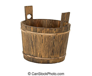 Traditional wooden bucket