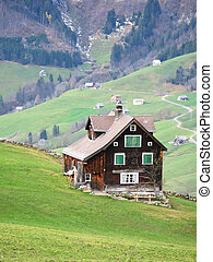 Traditional wooden house in Arvenbuehl