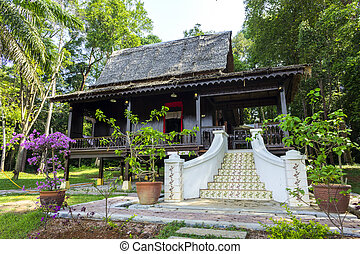 Traditional wooden house in Malacca, Malaysia