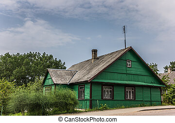 Traditional wooden house in Trakai