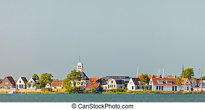 Traditional wooden houses in the small Dutch village of Durgerdam