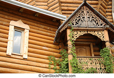 Traditional wooden Russian house
