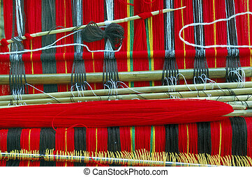 Traditional Woven Cloth of the Igorot Tribe in the Mountain Province, Philippines