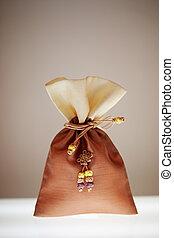 traditionele , accessoire, gelukkig, zak, in, zuiden,...