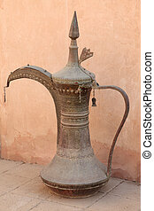 traditionele , arabische koffie, pot, in, de, museum