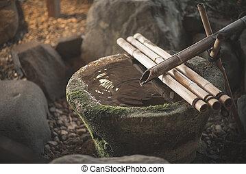 traditionele , bamboe, fontijn