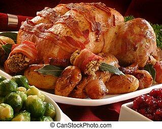 traditionele , braadstuk turkije, diner