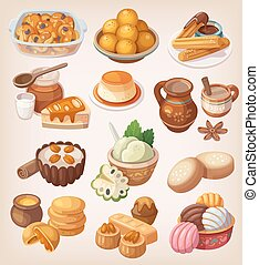 traditionele , desser, mexicaanse , kleurrijke