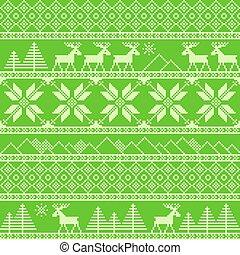 traditionele , gebreid, decoratief, kerstmis, model