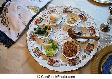 traditionele , passover, seder