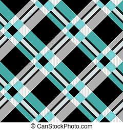 traditionele , plaid stof, schaduwen, pattern., seamless, textuur, donker, controleur, licht, tartan, green.