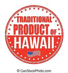traditionele , postzegel, product, hawaii