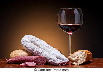 traditionele , sausages, wijntje